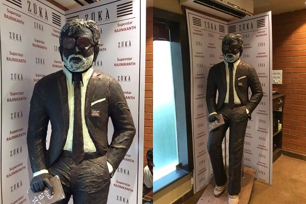 The sweetest tribute to Rajinikanth A life size chocolate statue in Chennai