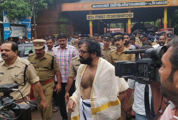 Kerala writer performs penance for Kathua rape in temple right wing activists protest