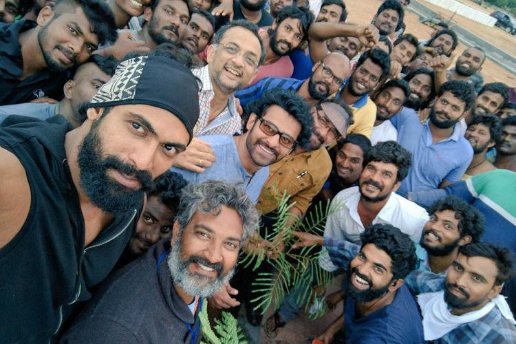 Baahubali team participates in Haritha Haram plants saplings in Hyderabad