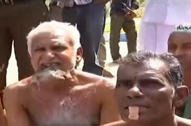 Trichy farmers eat rats in protest demand state be declared drought-hit