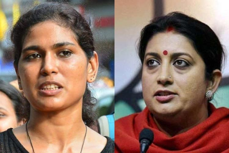 Fact check Did a hoax fuel Smriti Iranis sanitary napkin comment