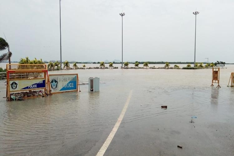 Over 11000 people moved to relief camps in 2 Andhra districts as river Krishna floods