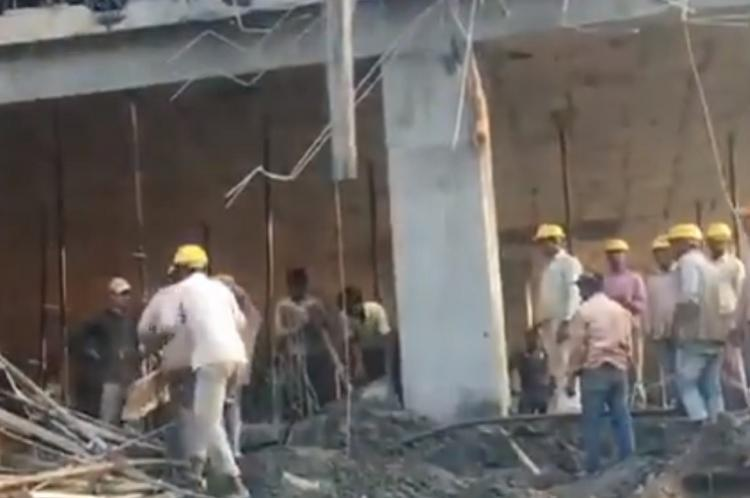 Two labourers killed after under-construction parking lot in Bengaluru collapses