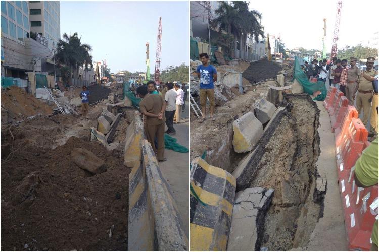 Chennais Anna Salai caves in again this time near DMS