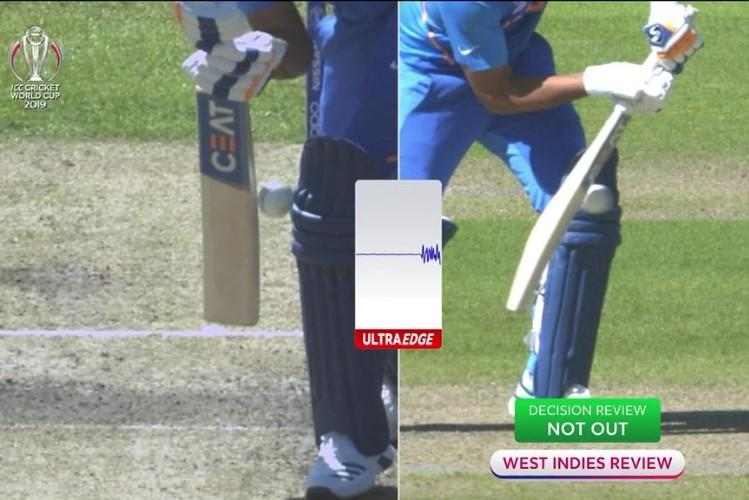 Was he out Fans debate Rohit Sharmas dismissal by 3rd umpire after DRS review by WI
