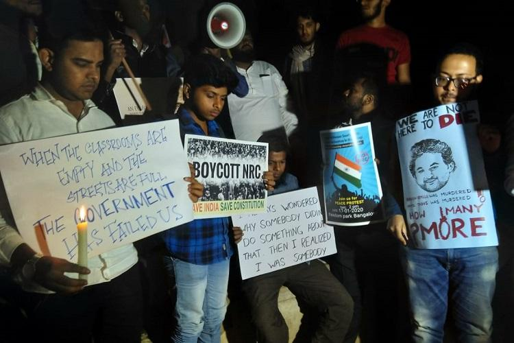 On Rohith Vemulas death anniversary Bengaluru students protest against CAA-NRC