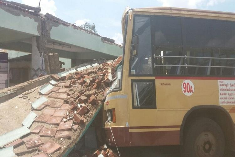 At least 5 dead after terminal roof collapses on a bus near Coimbatore