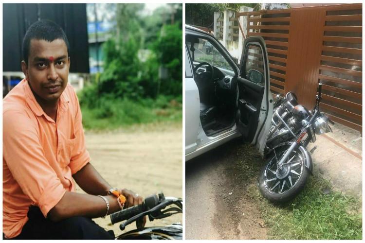 BJP worker killed in Keralas Guruvayur attackers ram his bike with car
