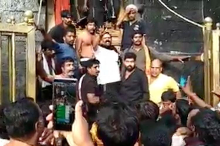 Kerala RSS man leading Sabarimala protests accused of breaking rituals