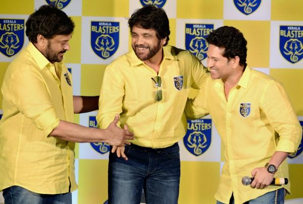 Telugu megastars Chiranjeevi Nagarjuna all set to play ball with cricketing legend Sachin