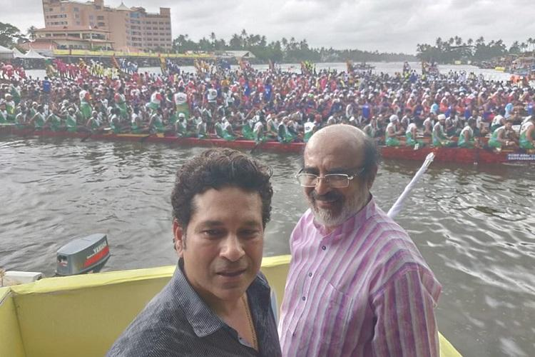 Kerala overcame challenges because of peoples spirit Sachin at Champions Boat League