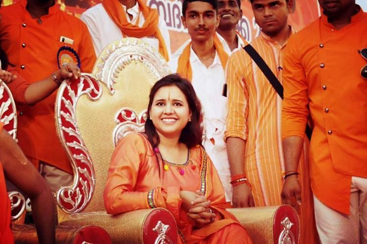 Sadhvi from MP says cow slaughters in Kerala should be killed Malayalis send her beef recipes
