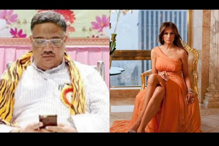 A Karnataka minister is in trouble for looking at Melania Trumps old modeling pics