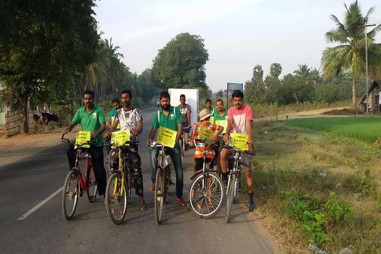 Activists take out cycle rally from Salem to Chennai for campaign to save TNs water bodies