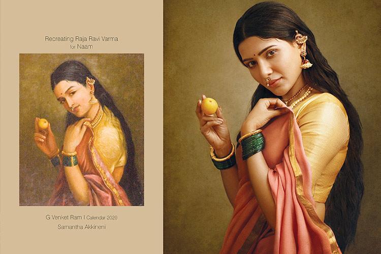 In pics 11 women actors and dancers recreate Raja Ravi Varma paintings
