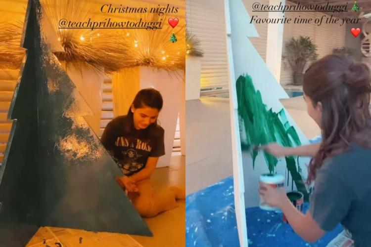 Samantha Akkineni preps up for festive season paints Christmas tree