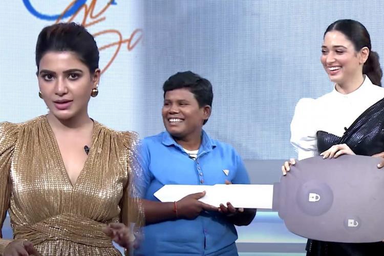 Samanthas talk show team gifts car to auto driver Kavitha