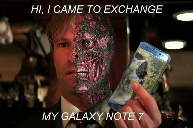 Bomb suit for a Samsung Galaxy Note 7 Internet explodes over the phone