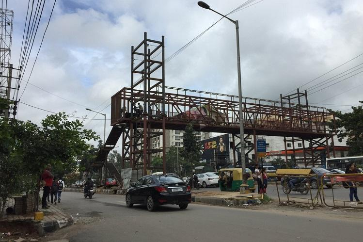 Long-awaited skywalk nearing completion but Bellandur residents already use it