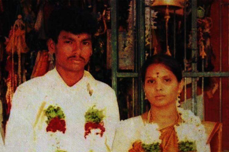 Shankar and Gowsalya on their wedding day