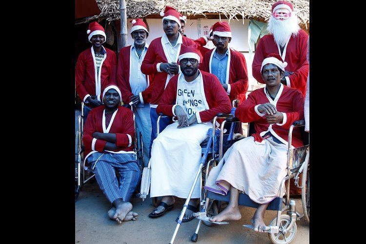 Santas on wheelchairs Meet the Kerala men who spread the spirit of Christmas