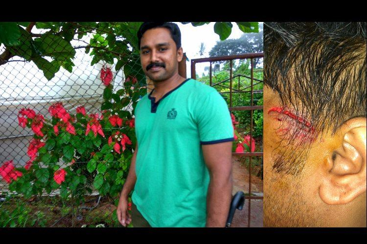 Case filed against cop who assaulted helmetless rider in Kollam