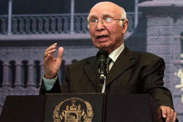 Pakistans Sartaj Aziz to attend Afghan conference in India