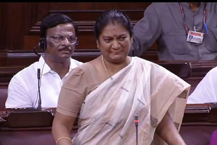 Sasikala Pushpa says AIADMK full of slaves TN govt restrained from taking action against her