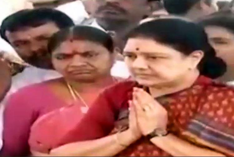 From power to prison stoic Sasikala leaves Poes Garden with an oath to Amma on the way