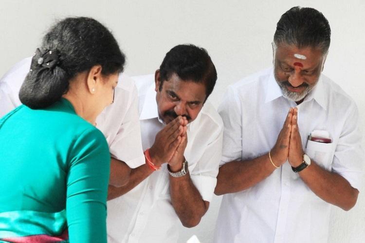OPS and EPS betrayed Sasikala why did they fall at her feet before asks Dhinakaran camp