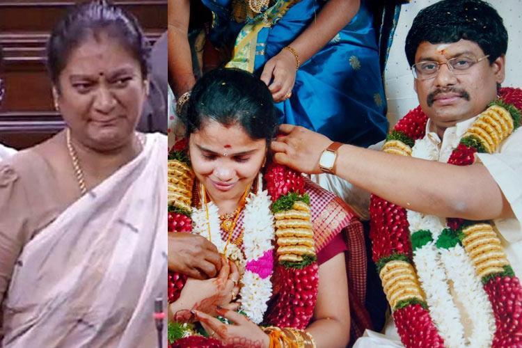 TN court stays Sasikala Pushpas wedding says her fiancs previous marriage still valid