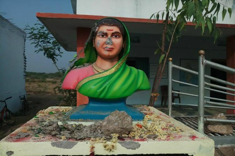 Another statue vandalised Bust of Savitribai Phule damaged by miscreants in Telangana