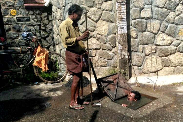 Man climbs into sewage-filled manhole but its Thiruvananthapuram that should feel dirty