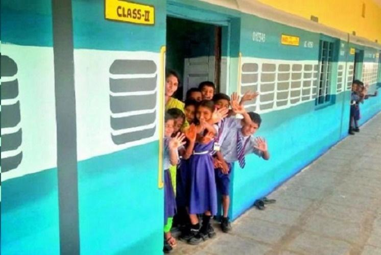 A train bogey as classroom Meet the Telangana artist remodelling govt schools