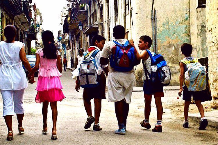 Representational image of children going to school