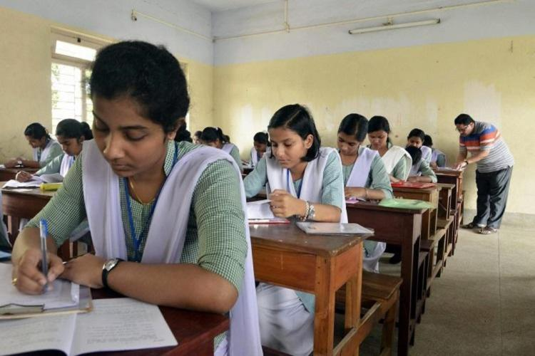 Students appearing for an exam