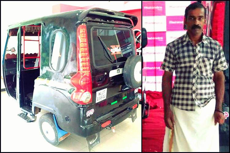 A photo of his jazzed-up auto caught Anand Mahindras eye and this Kerala man got a minivan in return