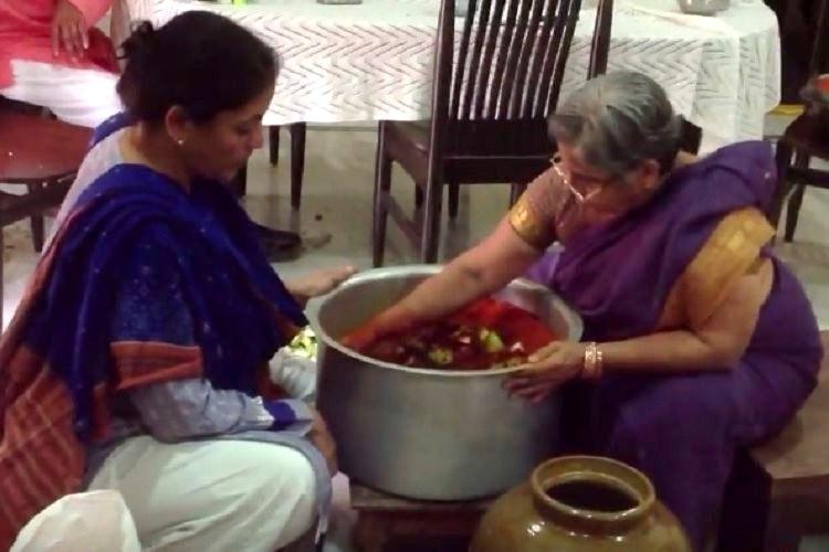 Old video of Nirmala Sitharaman making avakaaya pickle surfaces were not sure why