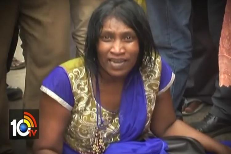 Woman govt employee accuses Andhra Labour minister of assault stages protest