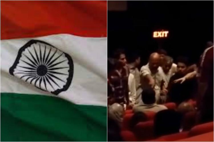 Why play the anthem before a movie anyway Twitter slugs it out over viral video
