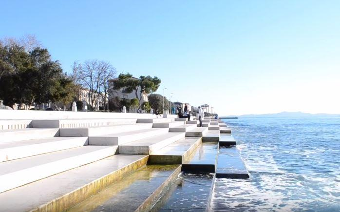 Stairway to musical heaven Steps by the ocean-front in Croatia produce awesome melodies
