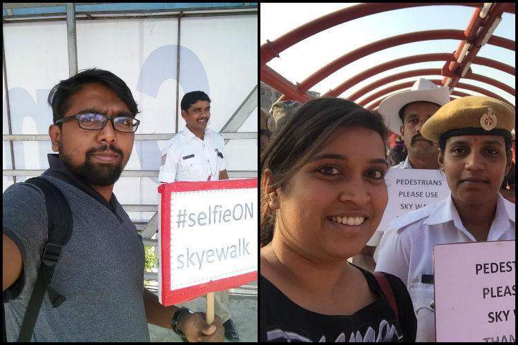 Bengaluru police launch online selfie contest to encourage use of skywalks