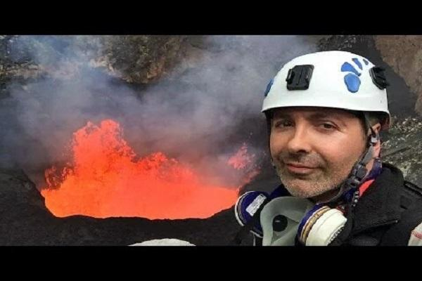 Extreme selfie Mountaineer clicks pic in front of a live volcano