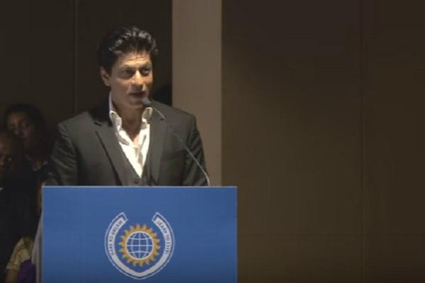 Watch Shah Rukh Khans speech laced with humour at a graduation event in Mumbai