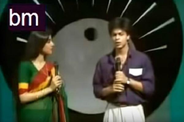 Throwback Watch rare video of Shah Rukh Khan anchoring Doordarshan show