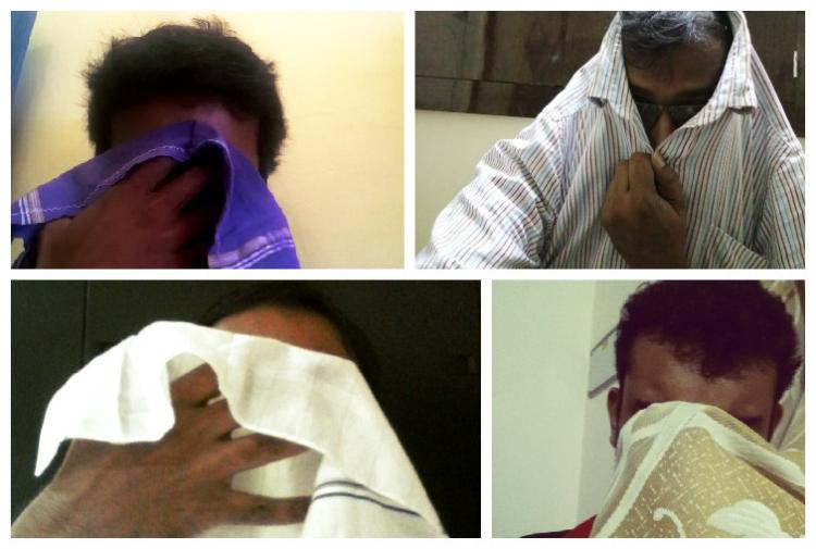 Covering their face in shame campaign asks for Kerala CMs resignation
