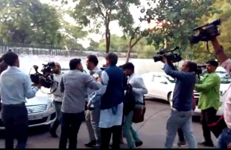 Outrage over videos that show Shashi Tharoor surrounded and followed by Republic TV scribes