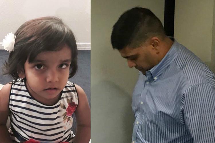 Sherin Mathews case Father Wesley surrenders arrested for injuring child