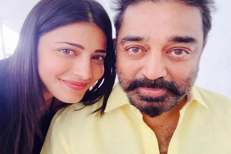 Dad brings positivity on the sets Shruti Haasan