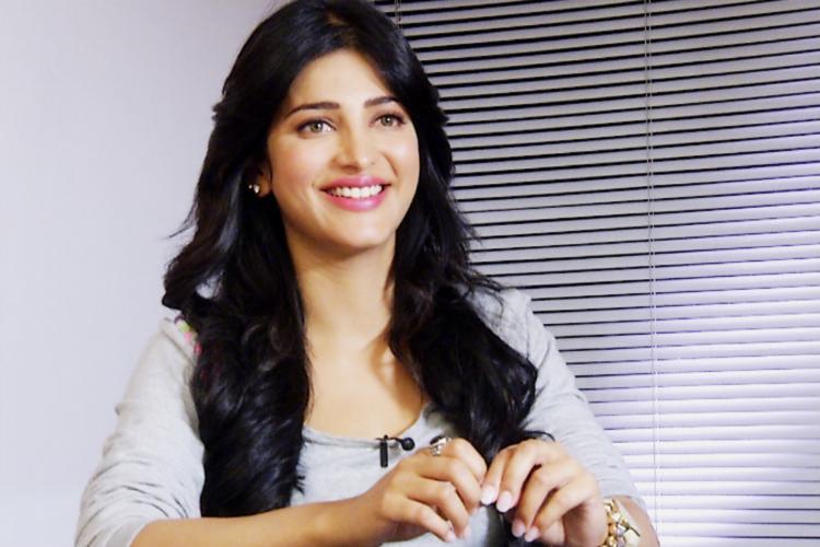 Shruti Haasan in white top